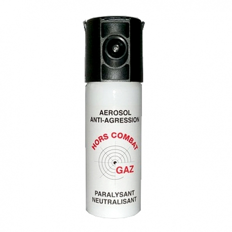 Bombe lacrymogène 50ml GAZ - HORS COMBAT