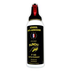 Bombe lacrymogène GAZ 100ml PUNCH