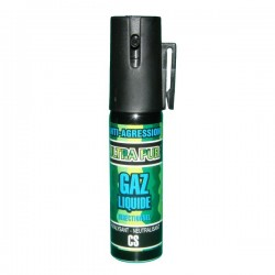 Bombe lacrymogène 25ml GAZ liquide ULTRAPUR