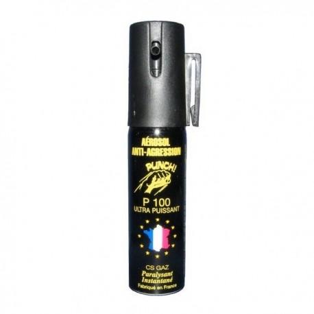 Bombe lacrymogène 25ml GAZ - PUNCH