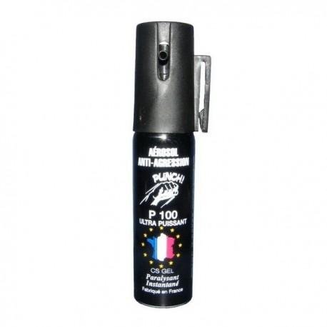 Bombe lacrymogène 25ml GEL - PUNCH