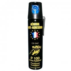 Bombe lacrymogène 75ml GAZ - PUNCH